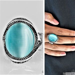 GLOW But Sure - Blue Moonstone Stretch Ring